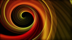 Artistic Spiral  colorful Abstract Motion Background Seamless Looping Red Orange - stock footage