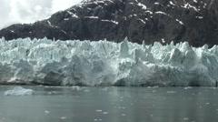 Alaska Glacier Bay epic wall of ice Stock Footage
