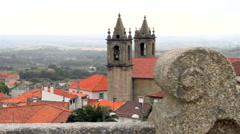 Ancient church on a rural village in Portugal. - stock footage