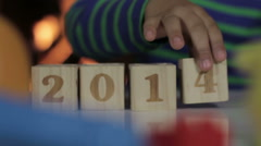 Happy new year, guys! 2013 2014. - stock footage