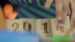 Happy new year, guys! 2013 2014. Stock Footage