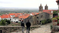 Ancient church on a rural village in Portugal. Stock Footage