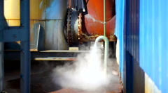 Water vapor out from a machine. Stock Footage
