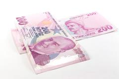 Turkish Lira Banknotes Stock Photos
