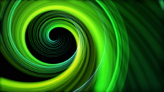 Artistic Spiral  colorful Abstract Motion Background Seamless Looping, Green Stock Footage