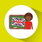 learn english design - stock illustration