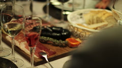 Traditional Portuguese food. Stock Footage