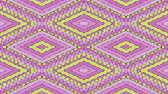 Kaleidoscopic Shapes Stripes and Rhombus Colorful Seamless Looping Background - stock footage
