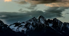 4K, Time Lapse, Epic Doomy Clouds Above High Tatra Mountain Range, Slovakia - stock footage