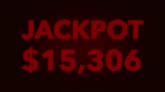 4K Quickly Reaching 50000 USD Jackpot Retro Gambling Machine Display 1 - stock footage