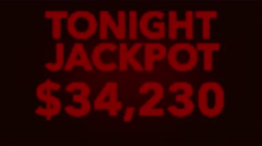 4K Winning 50000 USD Jackpot Retro Gambling Machine Display 1 Stock Footage