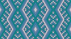 Kaleidoscopic Shapes Stripes and Squares Colorful Seamless Looping Background Stock Footage