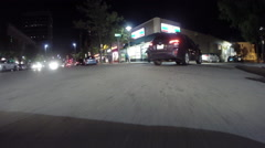 GoPro attached to bumper of car at night - 11 - stock footage