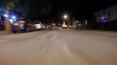 GoPro attached to bumper of car at night - 12 - stock footage
