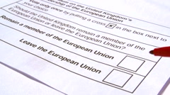 Adult Deciding What To Choose In The EU British Membership Election Stock Footage