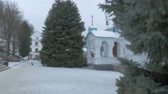 Church of the Intercession in the Donetsk Region. Stock Footage