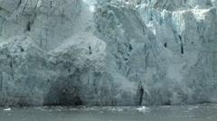 Alaska Glacier Wall of Ice Stock Footage