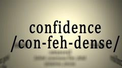 Definition: Confidence Stock Footage