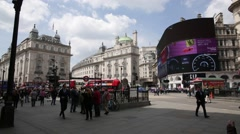 Piccadilly Circus long shot, London, England Stock Footage