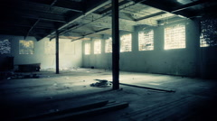 View of a empty and Abandon Ware House - stock footage