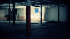 Empty and Abandon Ware House - stock footage