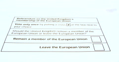 Adult Ticking To Remain In The EU British Elections Ballet Paper Stock Footage