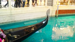 Macao, China: Venice people resort, enjoy the pleasure of rowing Stock Footage