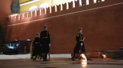 Moscow: Change of the Honor Guard at the Tomb of the Unknown Soldier - Part 2 - stock footage