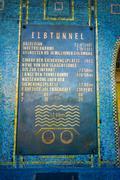 HAMBURG, GERMANY - JUNE 08, 2015: Signal of Elbtunnel on Hamburg, pedestrian and - stock photo