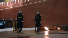 Moscow: Change of the Honor Guard at the Tomb of the Unknown Soldier - Part 3 - stock footage
