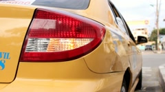 Taxi Cab Tail Light Stock Footage