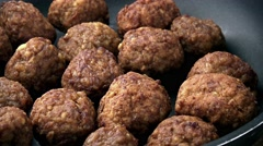 Fresh made Meatballs (not loopable; 4K) Stock Footage