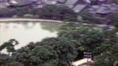 1951: Tightly packed Japanese residential building quaint town. Stock Footage
