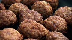 Portion of Meatballs (not loopable; 4K) - stock footage