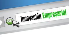 business innovation website sign in Spanish - stock illustration