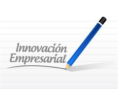 business innovation message sign in Spanish - stock illustration