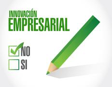 no business innovation approval sign in Spanish - stock illustration