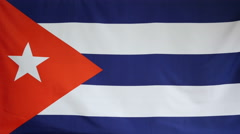 Cuba Flag real fabric Close up 4K Stock Footage