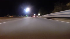 GoPro attached to bumper of car at night - 36 - stock footage