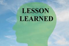 Lesson Learned mental concept - stock illustration