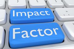 Impact Factor concept - stock illustration