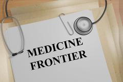 Medicine Frontier medicial concept - stock illustration