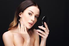 Makeup, lip makeup Stock Photos