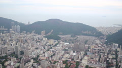 Aerial SugarLoaf Mountain Botafogo bay and forest Rio de Janeiro Stock Footage
