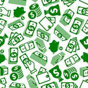 Money abundance and savings seamless pattern Stock Illustration