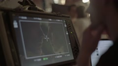 The monitor of the Director while filming on the set of the film Stock Footage