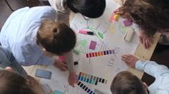 Design Team Creating Ideas Stock Footage