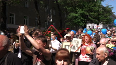 Immortal regiment May 9 Stock Footage