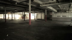 Empty and Abandon Ware House Stock Footage