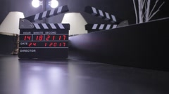 Electronic Clapper Board Or Film Slate Stock Footage